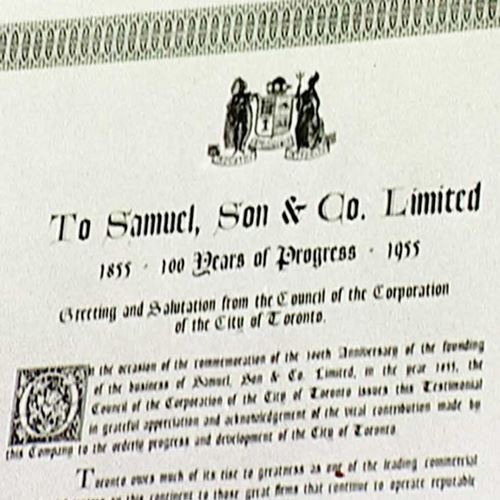 Document stating Samuel is 100 years old