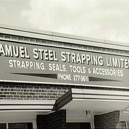 Samuel steel strapping location in 1963