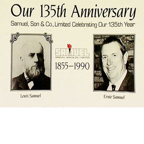 Images of Ernie and Lewis Samuel for 135th anniversary