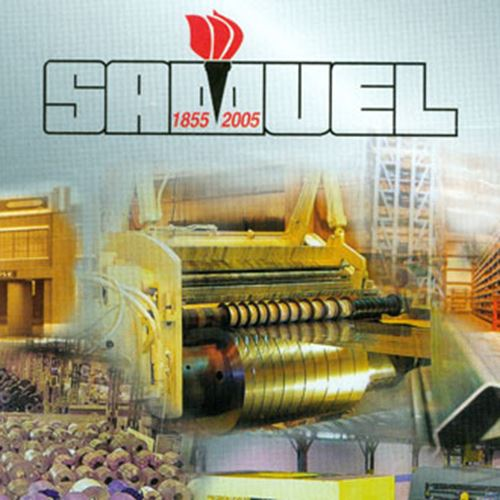 Steel slitting machines and old Samuel logo