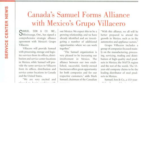 Document stating the partnership of Samuel and Villacero